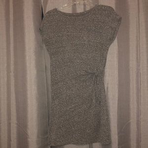 Aerie Side Tie Knot T-Shirt Dress